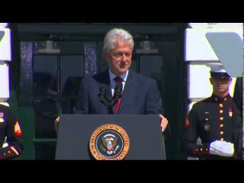 (Obama) And Clinton Celebrate 20 Years of AmeriCorps  9/12/14