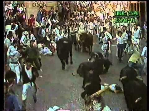 Encierro San Fermin Pamplona del dia 12 7 1985