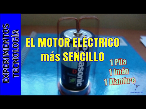 Experimentos Caseros. Motor electrico super sencillo
