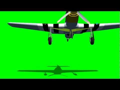 spitfire flying air attack with machine gun - green screen effects