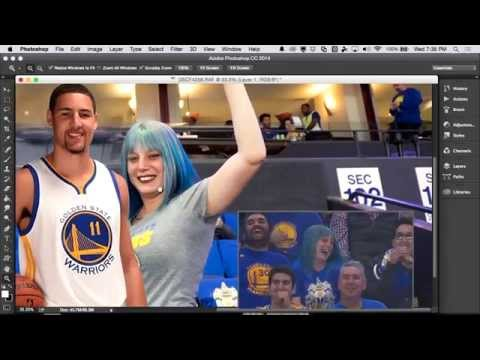 Adobe Photoshop Fan Cam at Golden State Warriors' Fan Night
