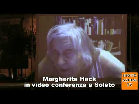 Margherita Hack in video conferenza a Soleto parte 1