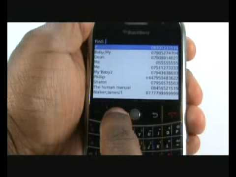 Copy SIM contacts to BlackBerry Bold 9000 | The Human Manual