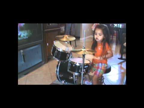 Elida Reyna-s daughter Leylah playing drums.