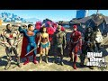ЛИГА СПРАВЕДЛИВОСТИ БИТВА СУПЕРГЕРОЕВ В ГТА 5 МОДЫ ОБЗОР МОДА GTA 5 веселая видео игра как мультик