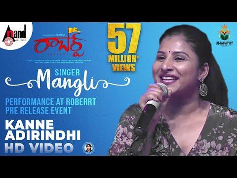 Singer Mangli Kanne Adhirindhi Song Performance At Roberrt Pre Release Event | Darshan | Arjun Janya