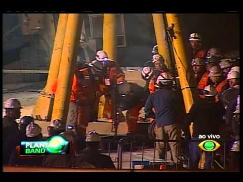 Plantão Band - resgate do primeiro minero do Chile