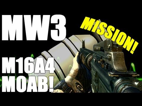 MW3: MOAB with the M16 on Mission!