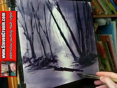 Misty Woods Watercolour Painting Demo