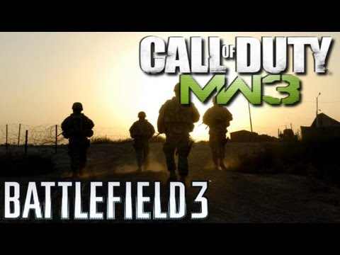 Modern Warfare 3 vs Battlefield 3 - Rock &amp; Rojo na serio