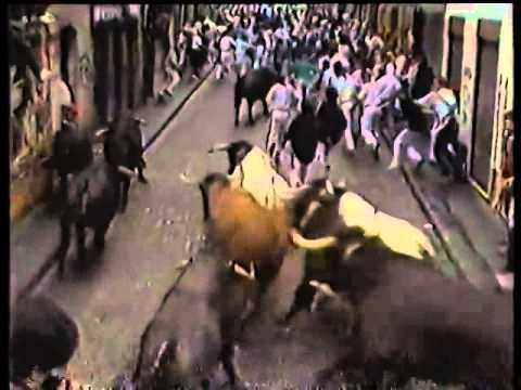 Encierro San Fermin Pamplona del día  13 7 1986