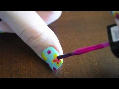 Easy Floral Nails with NO TOOLS