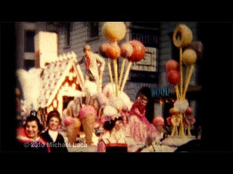Vintage 8mm Home Movies - Macy's Thanksgiving Day Parade - New York - November 25, 1954