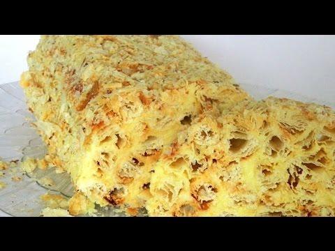 торт из готового слоеного теста рецепт с фото
