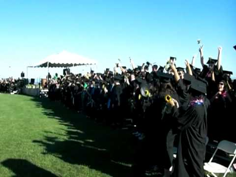 Kresge College UC Santa Cruz 2010 graduation cap toss