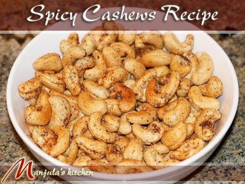 Spicy Cashews Recipe by Manjula, Indian Gourmet Appetizer - UCb75CvYbm5BXpbEkGqFKABw