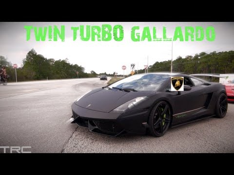 Twin Turbo Lamborghini battles 800+hp Evo IX on the street
