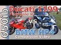 Ducati 1199 Panigale R vs BMW HP4: comparison video