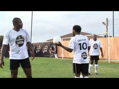 Amazing skills during filming of Guinness Football Challenge