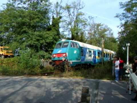 Italian diesel locomotive FS 445-1136 near Monza race track