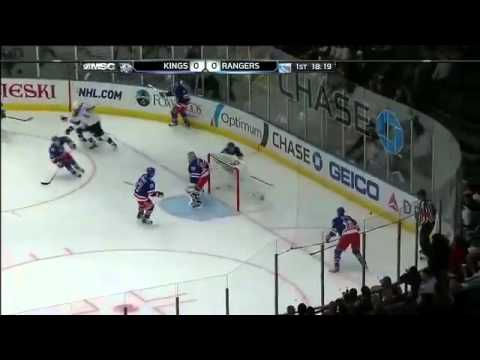 Henrik Lundqvist Ridiculous Toe Save On Anze Kopitar!! In His 200th NHL Win!! (2/17 vs. Kings)