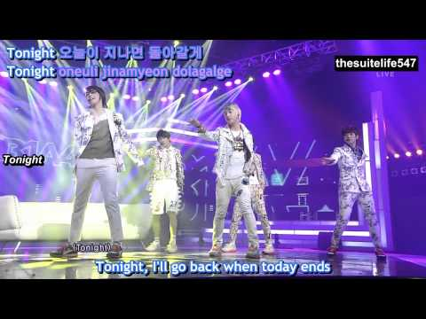 B1A4 - Baby Goodnight [Inkigayo] (12.06.03) {Hangul, Romanization, Eng Sub, Fanchants}