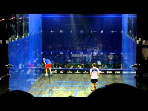 HK Open Squash 2012 final - Ramy Ashour funny moment