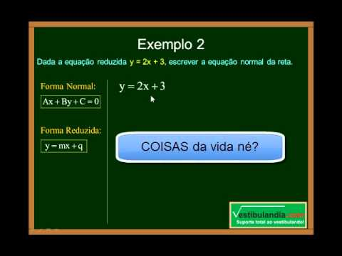 Matemática - Aula 55 - Geometria Analítica - Formas da Equação da Reta - Parte 1