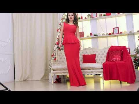 Красное вечернее платье - рыбка Терра
