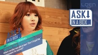 ASK IN A BOX: Girl's Day(걸스데이)_Don't forget me(나를 잊지마요) [ENG SUB]