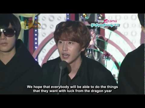 [Eng Sub] 120119 SMA - Bonsang (Super Junior)