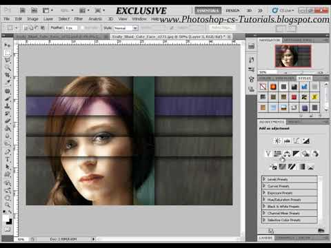 EXCLUSIVE - Awesome Effect, Marquee Tool, Color Balance - Photoshop CS5 Tutorial