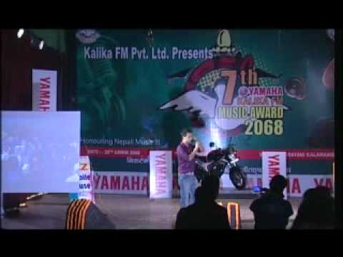 live performence of Sugam pokhrel@7th kalika fm music award 2068