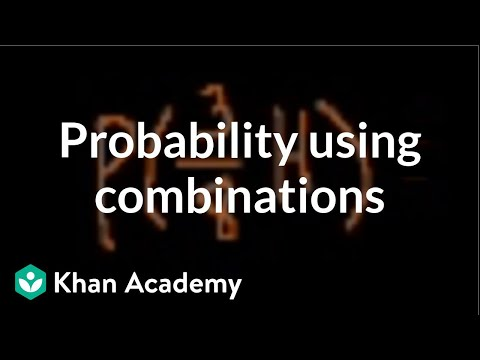Probability using Combinations