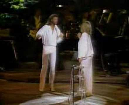 Barry Gibb com Barbra Streisand
