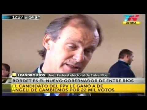 <b>Escrutinio. </b>Justicia electoral confirm� que Bordet gan� por 22 mil votos