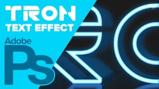 3D TRON Legacy Text Effect in Photoshop CS6 Extended
