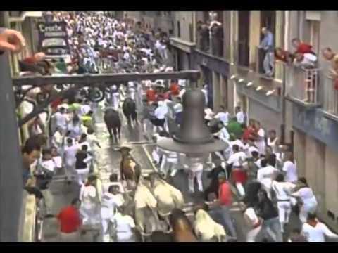Encierro San Fermin Pamplona del día 12 de julio del 2001