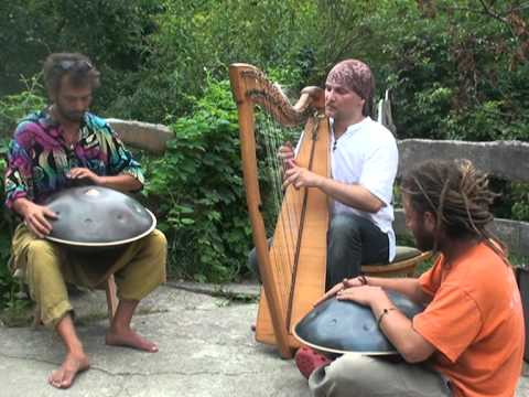 Two Hang and Celtic harp improvisation