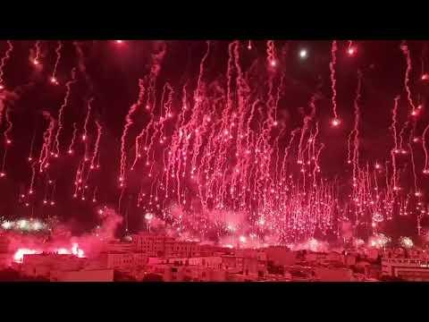La Hinchada del HNK Hajduk Split cumplió 70 años y así lo festejaron