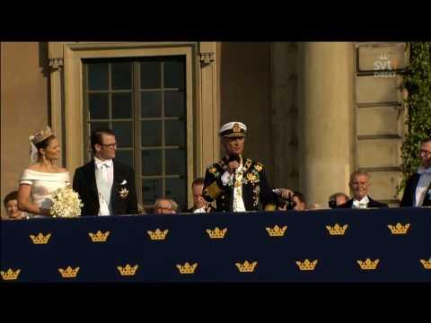kungens tal till brudparet!  19.06.2010
