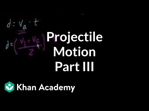 Projectile motion (part 3)