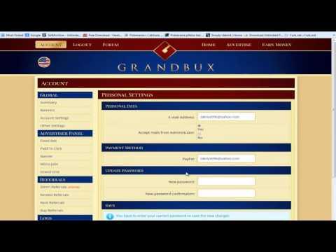 شرح موقع grandbux من الف الى الياء بصوت و صوره