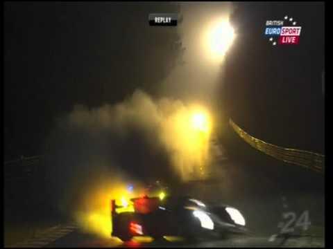 Le Mans 2011 Audi Car 1 crash Mike Rockenfeller Video #2