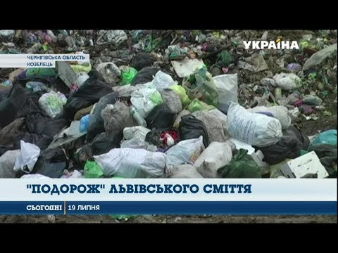 На Чернігівщині мешканці потерпають від сміття зі Львова і не тільки. ВІДЕО