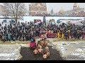 Как киевляне купались на Крещение: яркое видео с воздуха