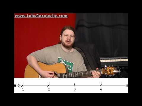 Cours de guitare : Les rythmiques 1 : noires et blanches - Partie 3