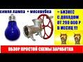 Фрагмент с начала видео Синяя лампа + мясорубка = Бизнес идея с доходом от 10000 рублей в день.