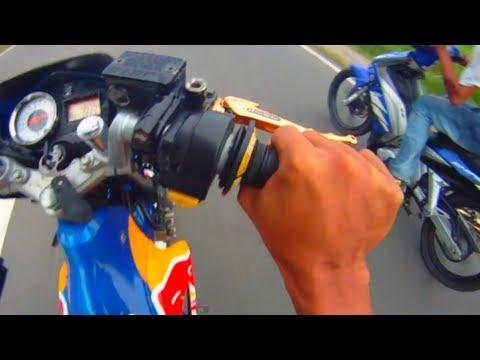 Suzuki Raider FU 150 Belang vs Yamaha Sniper 135 LC Drag Race HD Quality