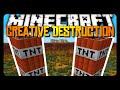 Minecraft: CREATIVE DESTRUCTION w/ SuperFlat Worlds!
